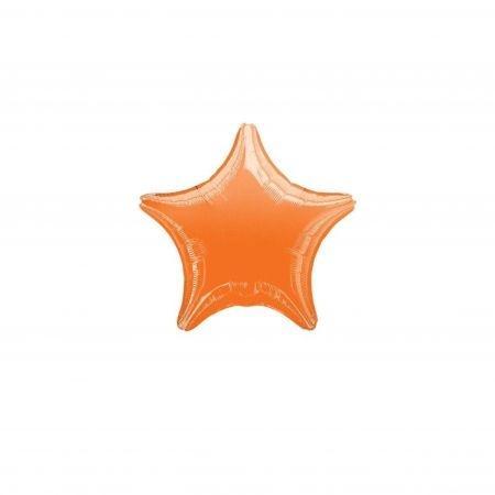 """ลูกโป่งฟอยล์ รูปดาว 18"""" สีส้ม"""