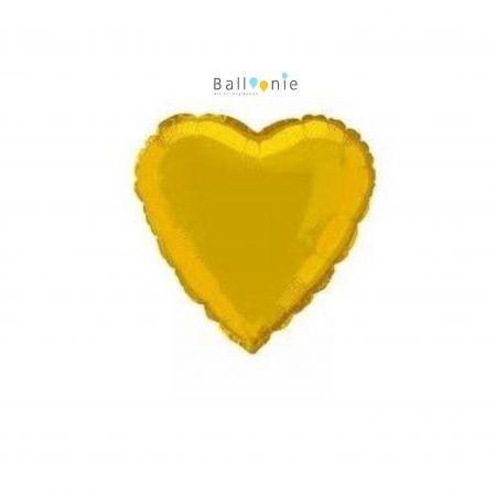 """ลูกโป่งรูปหัวใจ 18"""" สีทอง"""