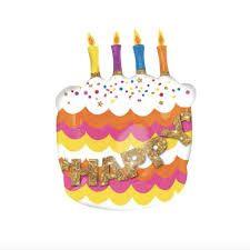 happy birthday เค้กสีส้ม
