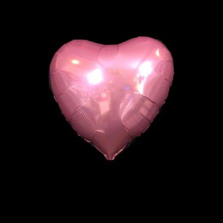 ลูกโป่งรูปหัวใจ 25นิ้วสีชมพูอ่อน