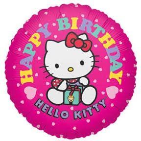 Happy birthday hello kitty มีกล่องของขวัญ