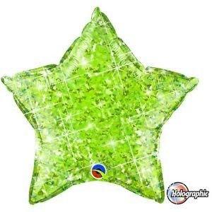 """ลูกโป่งดาว hologram 18"""" สีเขียวอ่อน"""