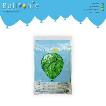 ลูกโป่ง 6 นิ้ว สีเขียวมะนาวธรรมดา(1 ถุง 100 ใบ)