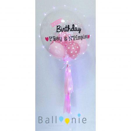 Bubble balloon in balloon 24 นิ้ว ติดไฟ