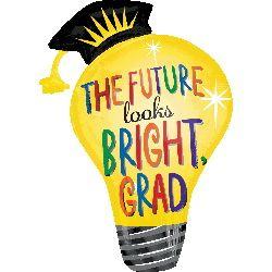 ลูกโป่งรับปริญญา The future looks bright grad