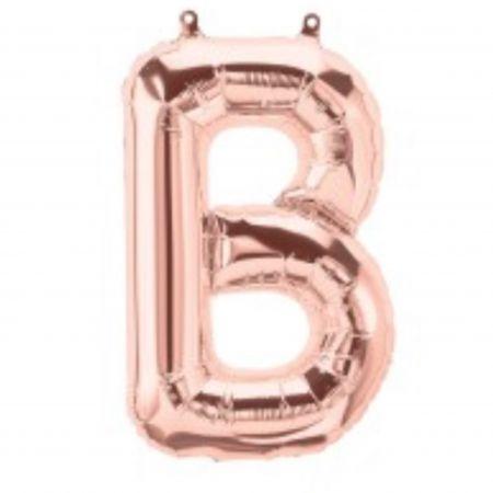 ลูกโป่งตัวอักษร B สี Rose gold ขนาด14นิ้ว