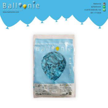 ลูกโป่ง 6 นิ้ว สีฟ้าธรรมดา(1 ถุง 100 ใบ)