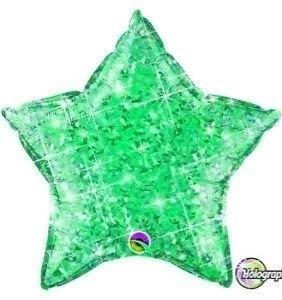 """ลูกโป่งดาว hologram 18"""" สีเขียวเข้ม"""