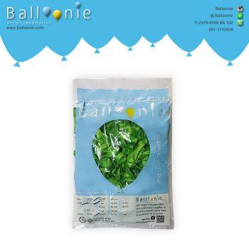 ลูกโป่ง 6 นิ้ว สีเขียวมะนาวมุก(1 ถุง 100 ใบ)