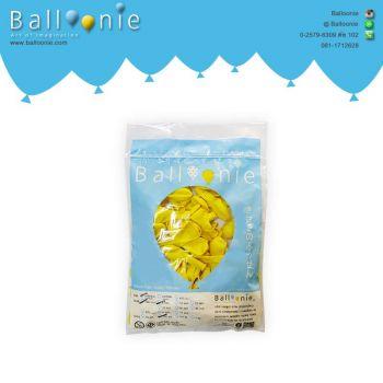 ลูกโป่ง 6 นิ้ว สีเหลืองธรรมดา(1 ถุง 100 ใบ)