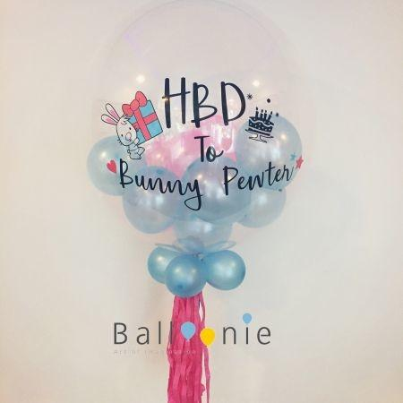 ลูกโป่ง Bubble Balloon in balloon