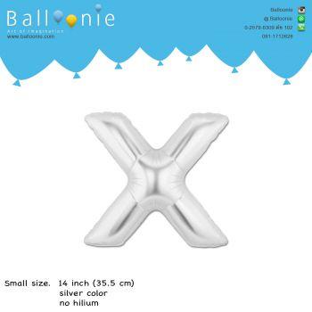 ลูกโป่งตัวอักษร X ขนาด 14 นิ้ว