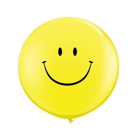Jumbo balloon 36 นิ้ว หน้ายิ้ม(ไม่สูบ)