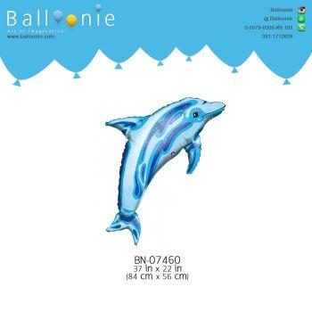 ลูกโป่งรูปสัตว์ ปลาโลมาสีฟ้า