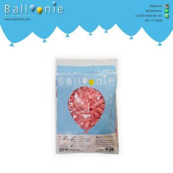 ลูกโป่ง 6 นิ้ว สีชมพูอ่อนธรรมดา(1 ถุง 100 ใบ)