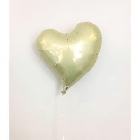 ลูกโป่งหัวใจ ibrex 18 นิ้ว สีเหลืองอ่อน