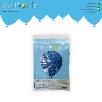 ลูกโป่ง 6 นิ้ว สีน้ำเงินธรรมดา(1 ถุง 100 ใบ)