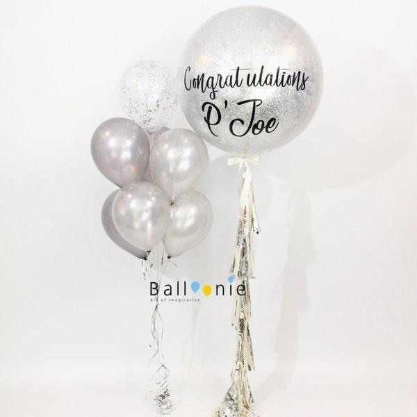 ลูกโป่งแสดงความยินดี จัมโบ้ บอลลูน 36 นิ้ว กลิตเตอร์