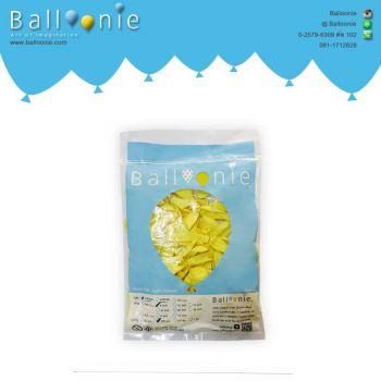 ลูกโป่ง 6 นิ้ว สีเหลืองอ่อนธรรมดา(1 ถุง 100 ใบ)