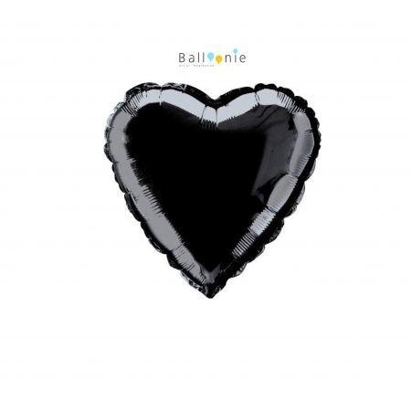 """ลุกโป่งรูปหัวใจ 18"""" สีดำ"""