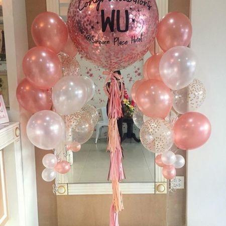 Set - Jumbo balloon Rose gold