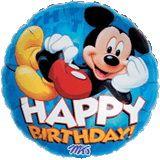 ลูกโป่ง Happy Birthday Mickey น้ำเงิน
