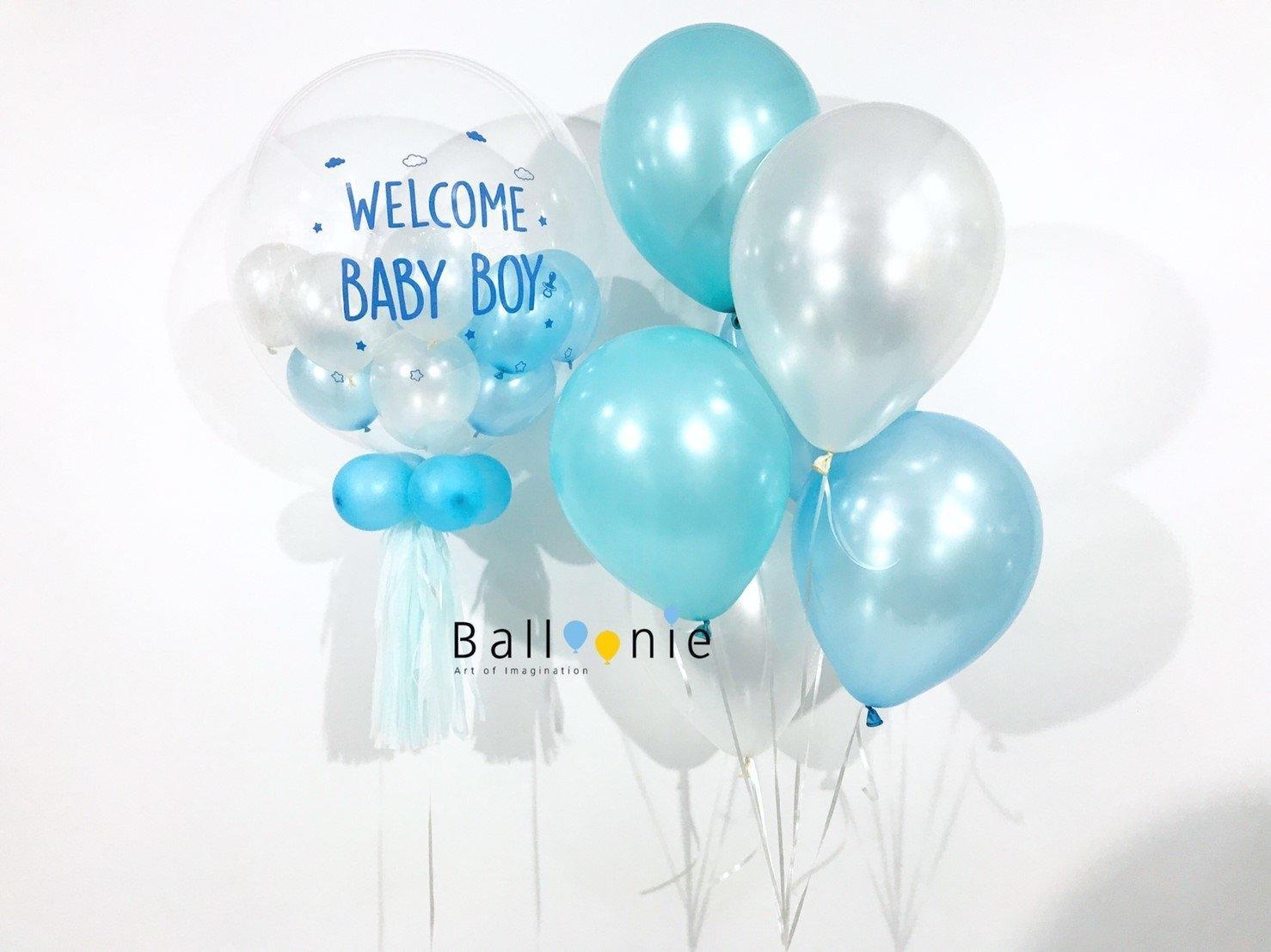 ลูกโป่งเด็กแรกเกิด welcome baby boy Set 3