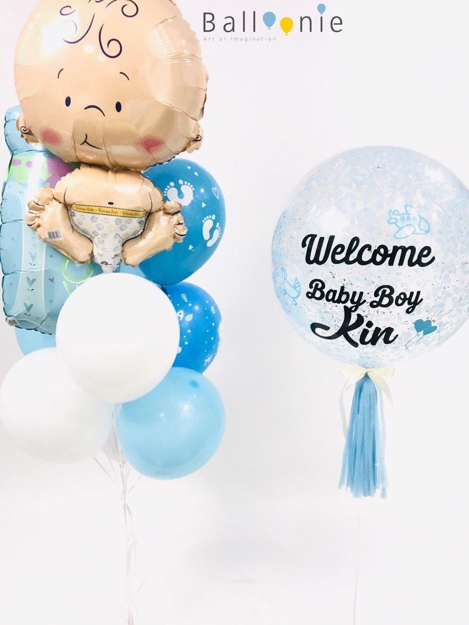 ลูกโป่งเด็กแรกเกิด Welcome baby Boy 01