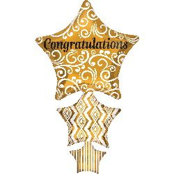 ลูกโป่งกรอบรูป Congratulations 3stars