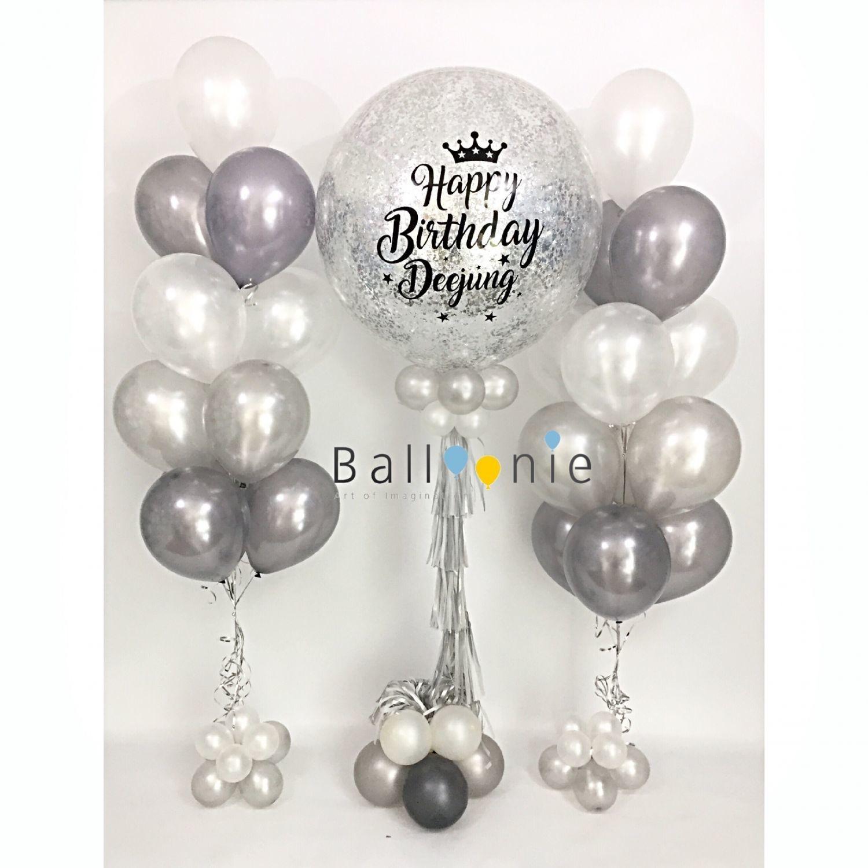 ลูกโป่งวันเกิด Jumbo balloon และช่อ 12 ใบ
