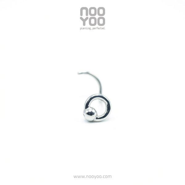 (30763) จิวจมูก Nose Pigtail BCR Surgical Steel