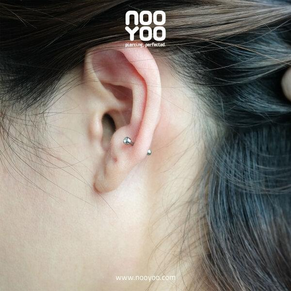 (30904) จิวหู Titanium Micro Barbell with Cubic Zirconia