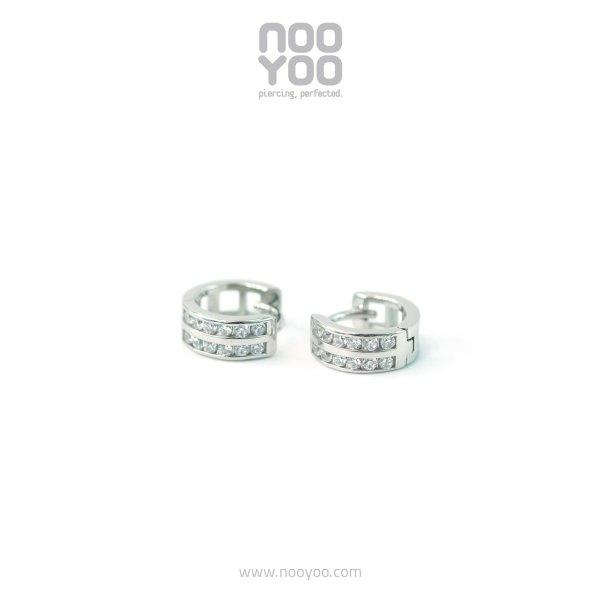 (30922) Hoops Double Rows CZ Surgical steel