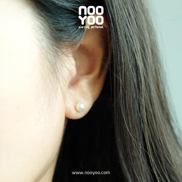 (30191) ต่างหู White Pearl 5mm Gold Plated