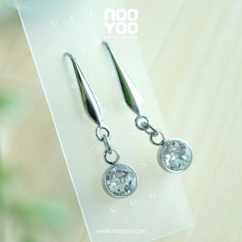 (30655) Hook Crystal Dangle Surgical Steel