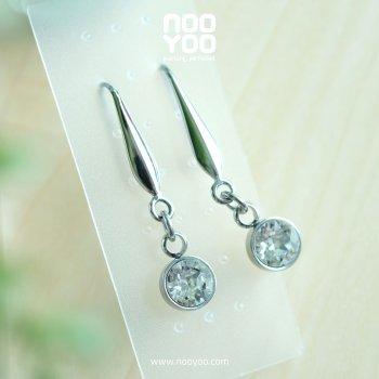 (30655) Hook Crystal Dangle Surgical Steel