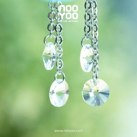 (30665) ต่างหู Round Crystal Dangle