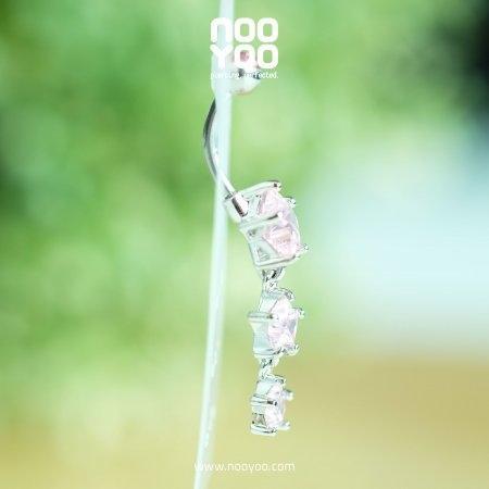 (30283) จิวสะดือ Dangle Rose Star with 2 Star Drop