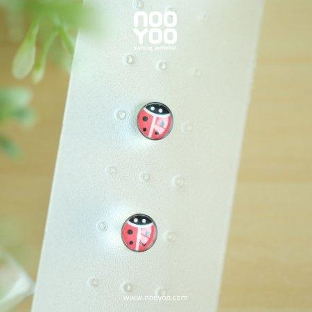 (30642) ต่างหู Lady Bug Surgical Steel **Sharp tip**