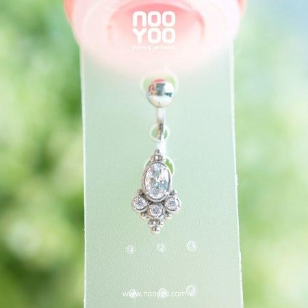 (30824) จิวสะดือ Tribal Cubic Zirconia Surgical Steel