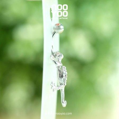 (30317) จิวสะดือ Jewel with Gecko Crystal