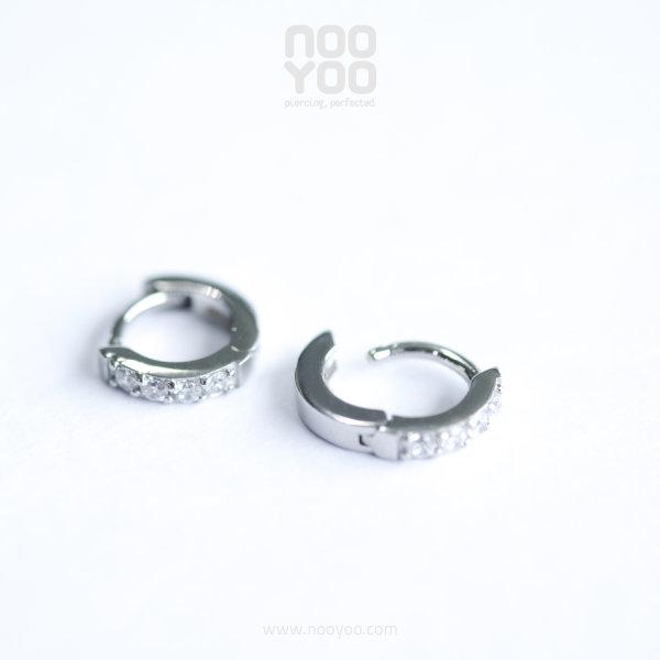 (30892) ต่างหู Second Hole Hoop CZ