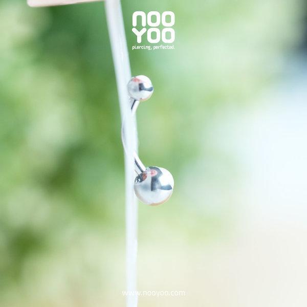 (30769) จิวสะดือ Double SWAROVSKI Pearl Baby Surgical Steel