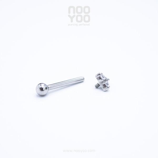 (30888) จิวหู Micro Trinity Crystal Surgical Steel (1 ชิ้น)