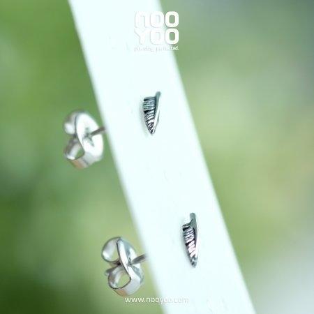 (30776) ต่างหู Mini Feather Surgical Steel