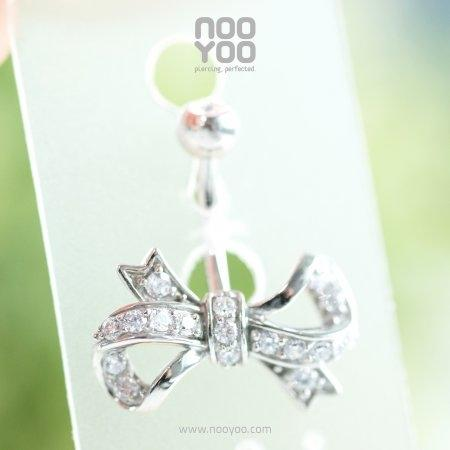 (30839) จิวสะดือ Cubic Zirconia Bow Surgical Steel