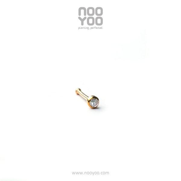 (30235) จิวจมูก Mini Nose Stud Cubic Zirconia - Ball 18k Gold Yellow