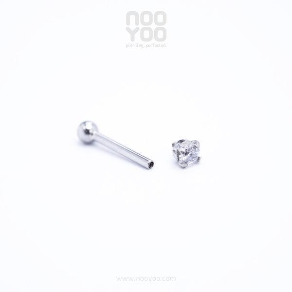 (30891) จิวหู Micro Single Crystal Surgical Steel (1 ชิ้น)