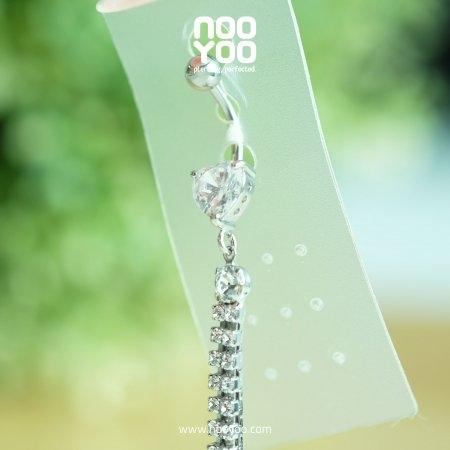 (30344) จิวสะดือ Dangle Crystal Heart with Multistone Crystal