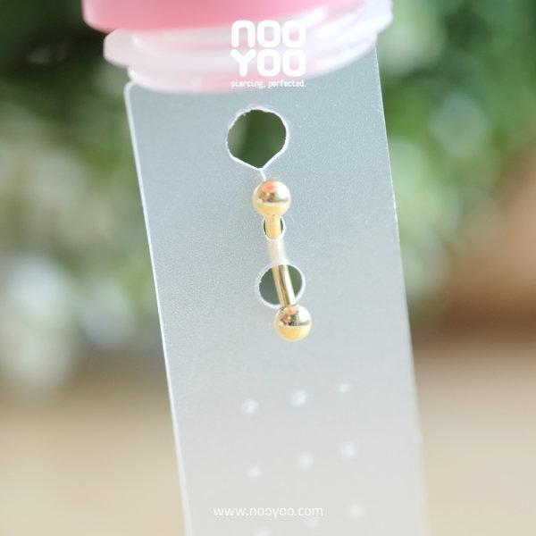 (30924) จิวสะดือ Gold PVD Barbell